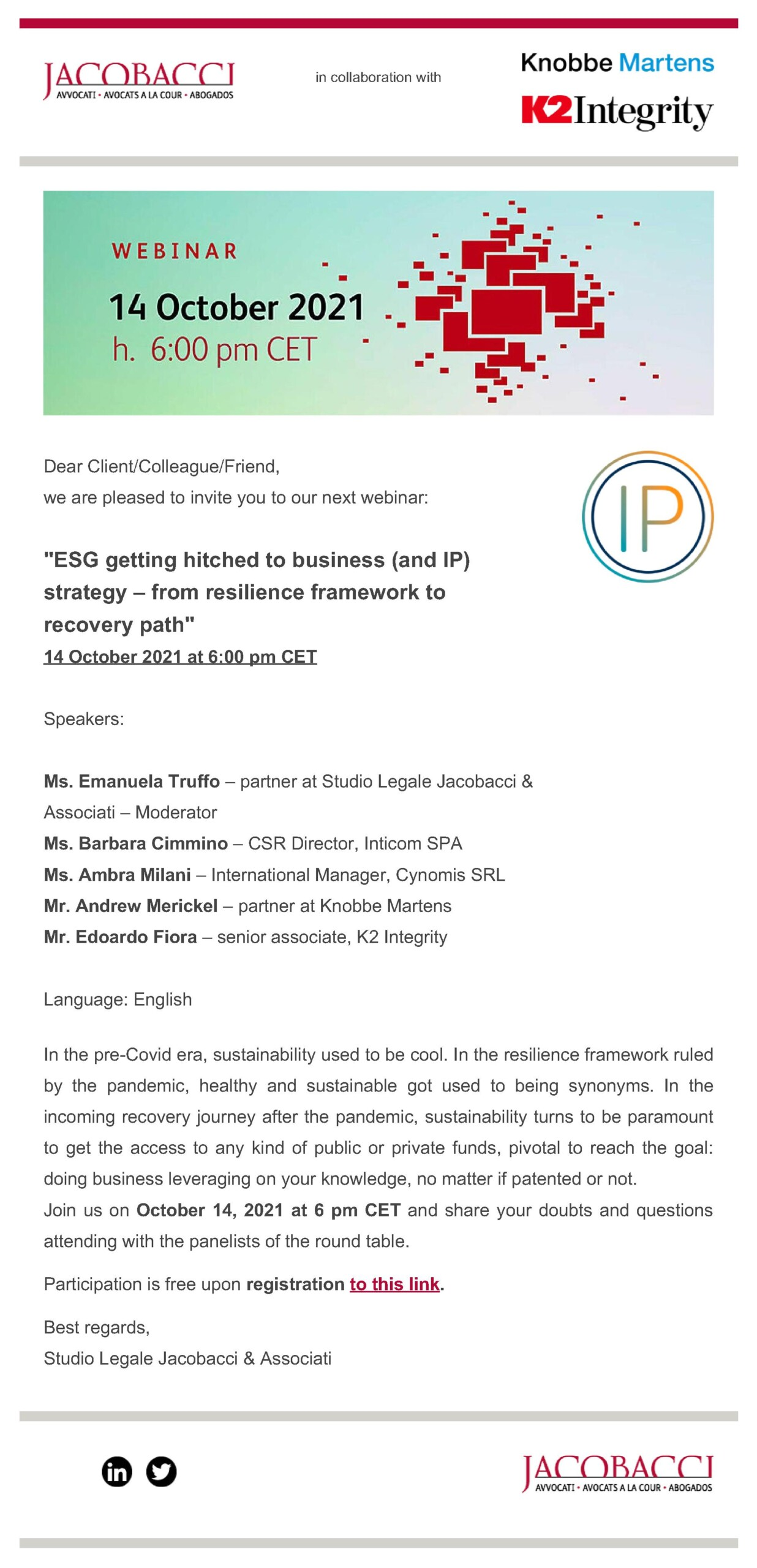Jacobacci WEBINAR - ESG getting hitched to business (and IP) strategy - 14 October 2021-ff304024
